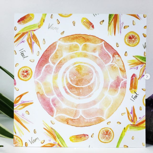 Svadhishthana Sacral Chakra Art Card by Origins Wellbeing Cornwall