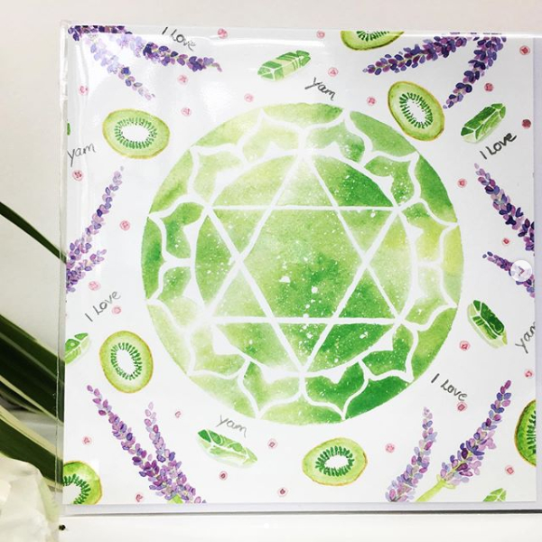 Anahata Heart Chakra Art Card by Origins Wellbeing Cornwall
